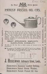 Advert For Heselwood's Funnell Oil Cans